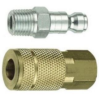 "Forney 75519 Tru-Flate Compatible Plug & Coupler Set, 1/4"" x 1/4"""