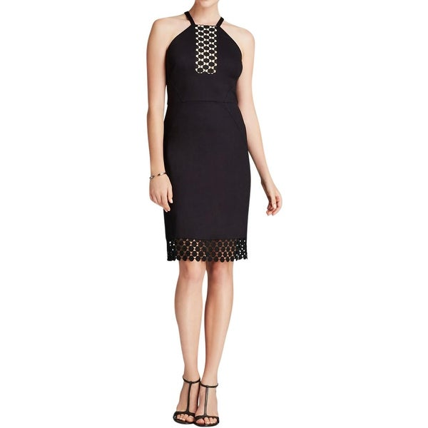 Laundry by Shelli Segal Womens Cocktail Dress Sleeveless Dot Lace Trim