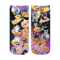 Living Royal Photo Print Ankle Socks: Cat Cravings - Multi