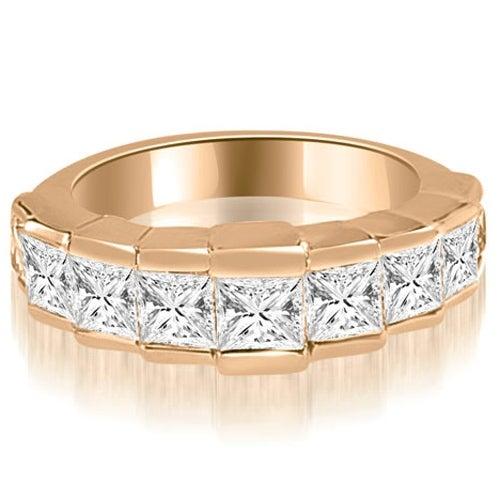 3.00 cttw. 14K Rose Gold Princess Diamond 9-Stone Wedding Band