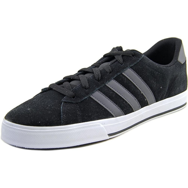Adidas Daily Men Round Toe Suede Black Sneakers