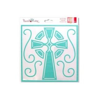 Kole Imports KK428-48 Celtic Cross Stencil Mask - Pack of 48