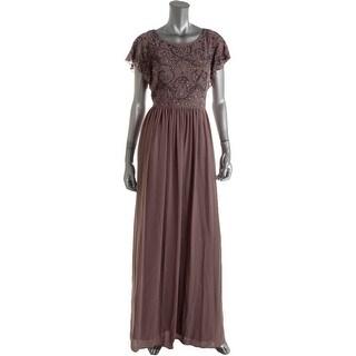 Decode 1.8 Womens Chiffon Embellished Evening Dress - 6