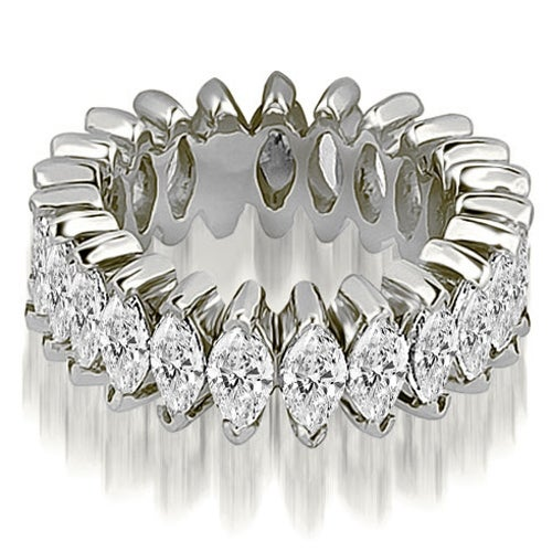 4.50 cttw. 14K White Gold Marquise Diamond Eternity Ring