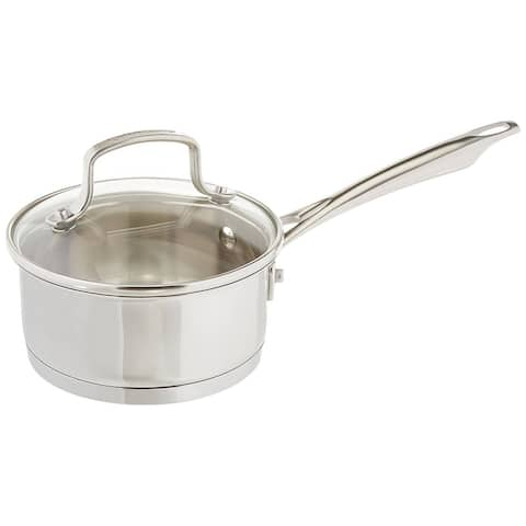 Cuisinart 8919-14 Professional Stainless Saucepan with Cover, 1-Quart