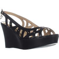 TS35 Ebbie Slingback Wedge Sandals, Black