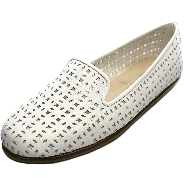Aerosoles You Betcha Women Round Toe Leather White Loafer