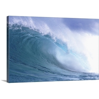 Premium Thick-Wrap Canvas entitled Spraying Waves