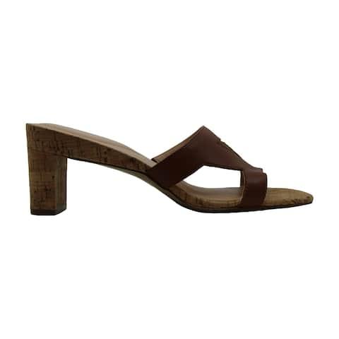 Alfani Womens larraa Leather Open Toe Classic Pumps