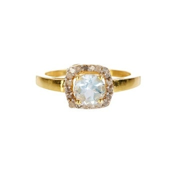 14K Gold White OpalDiamond Ring