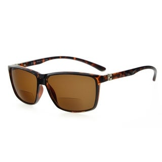 Eyekepper Bifocal Sunglasses With 180 Spring Hinges (Tortoise Frame, Brown Lens +1.25)