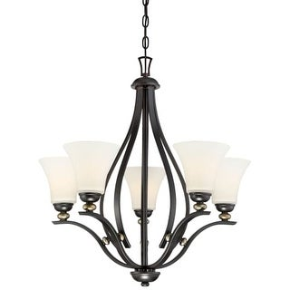 Minka Lavery 3285-589 5 Light One Tier Chandelier from the Shadowglen Collection