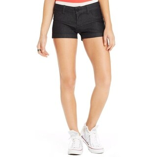 Indigo Rein Womens Juniors Denim Shorts Dark Rinse Flat Front