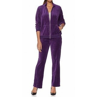 "Antthony NEW Purple Womens 2X Plus ""Decked in Comfort"" Jog Pant Set