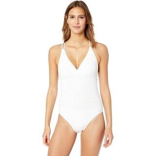 Link to La Blanca  Island Goddess Underwire Double Strappy Back Swimsuit, White, 4 Similar Items in Swimwear