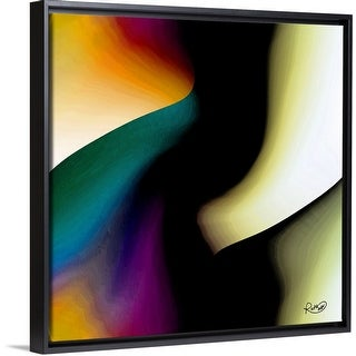 """Unfailing Love"" Black Float Frame Canvas Art"