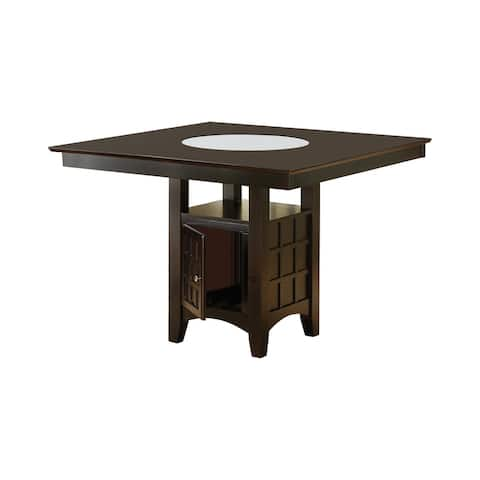 Copper Grove Cappuccino Solid Wood Lazy Susan Storage Dining Table ( TABLE ONLY)