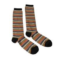 Missoni GM00CMD5218 0003 Green/Orange Knee Length Socks