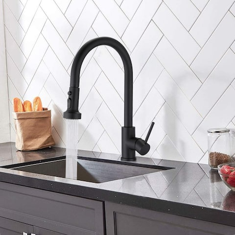 Proox Single Handle High Arc Pull Down Kitchen Faucet