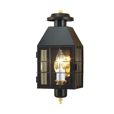 """Norwell Lighting 1059 American Heritage Single Light 17"""" Tall Outdoor Wall Sconce with Glass Shade"""
