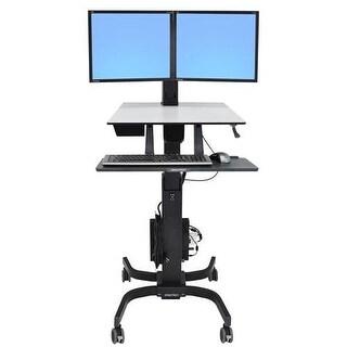 Ergotron - Ergotron Workfit-C,Dual Sit-Stand Workstation.Improve Energy And Productivity Wh