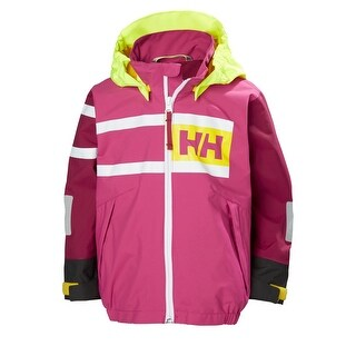 Helly Hansen Kids Unisex Salt Power Jacket - Very Berry, 122/7