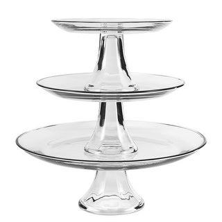 """Anchor Hocking Presence 3 Tier Platter Set Platter Set"""