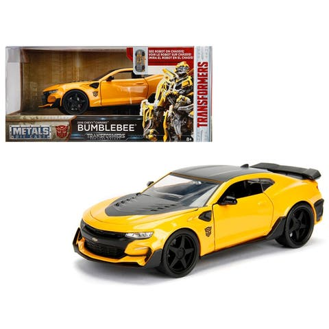 2016 Chevrolet Camaro Bumblebee Yellow From Transformers Movie 1/24 Diecast Model Car by Jada Metals