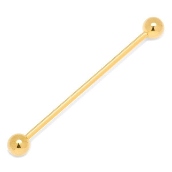Gold Round Eyelet Collar Bar
