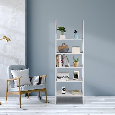 5-Tier Modern Wood Plant Flower Book Display Shelf,Bookshelf