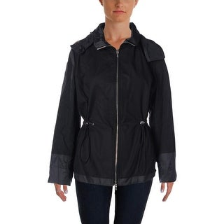 Calvin Klein Womens Raincoat Reversible Anorak