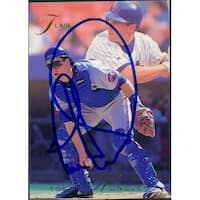 Signed Hundley Todd New York Mets 1993 Fleer Baseball Card autographed