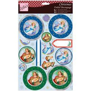 Anita's A4 Foiled Decoupage Sheet-Pair Of Angels