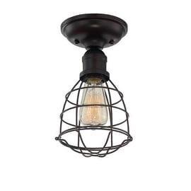 Savoy House 6-4135-1 Scout 1 Light Semi Flush Mount Ceiling Fixture