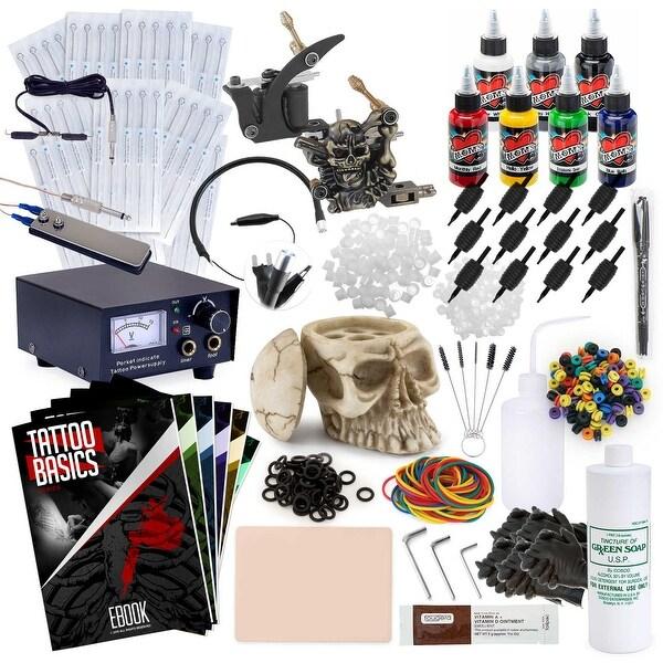 Complete Tattoo Kit - 2 Machine Skull Set