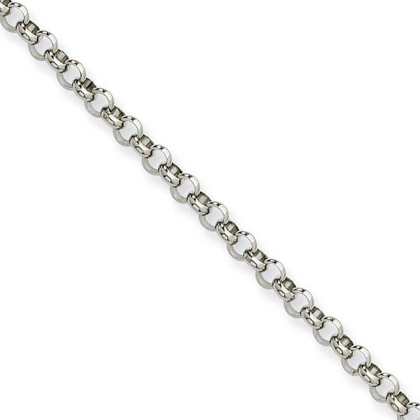 Chisel Stainless Steel 4.60mm 24 Inch Rolo Chain (4.6 mm) - 24 in
