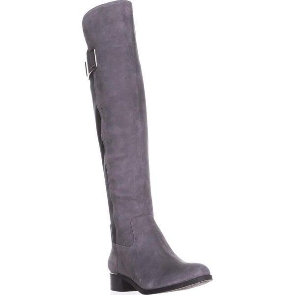 Calvin Klein Cyra Dress Back Stretch Riding Boots, Shadow Grey/Black - 6 us / 36 eu