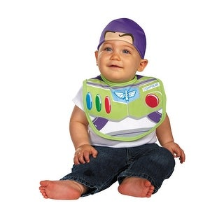 Disguise Buzz Lightyear Bib and Hat - Green/White - 0-6 mo