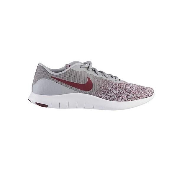 b948fdb287246 Shop Nike Womens Flex Contact Wolf Grey/Bordeaux-White Running Shoe ...