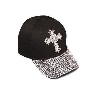 Womens Sequiened Baseball Cap w/ Cross