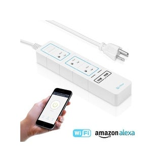 Wi-Fi Accessible Power Strip, 3 AC Outlets + 2 USB Charging Ports, Alexa