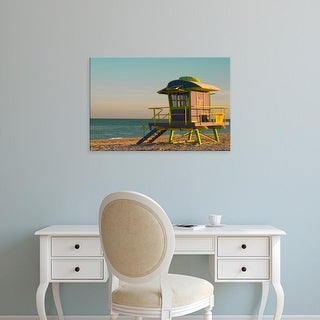 Easy Art Prints Jaynes Gallery's '12Th Street Lifeguard Station At Sunset' Premium Canvas Art