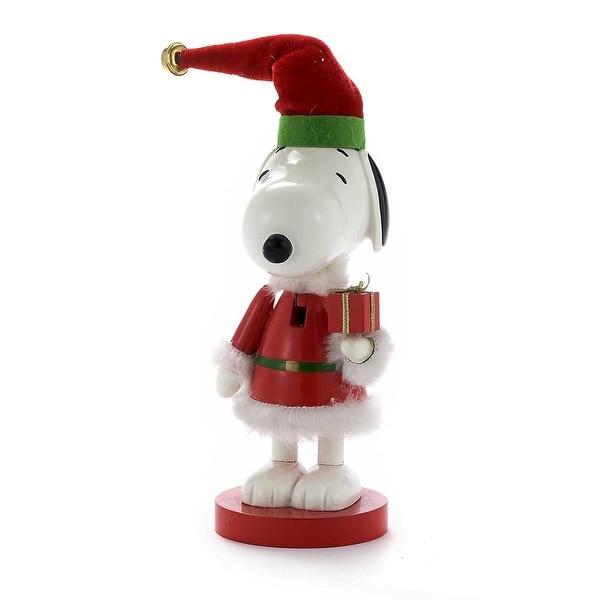"""Peanuts Snoopy in Red Santa Suit 10"""" Nutcracker"""
