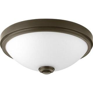 """Progress Lighting P350007-LED LED Linen Light 15"""" Wide Integrated LED Flush Mount Ceiling Fixture"""