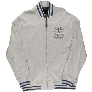 Sean John Mens Big & Tall French Terry Long Sleeves Basic Jacket - 2XL