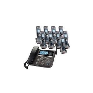 Shop Uniden Dect4096 9 Dect 6 0 Corded Cordless 2 Line Phone With Headset Jack Overstock 20865553