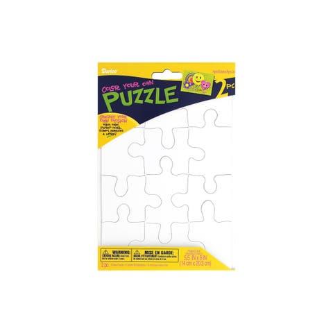 Puz100 darice color in puzzle 5 5x8 12pc 2ct