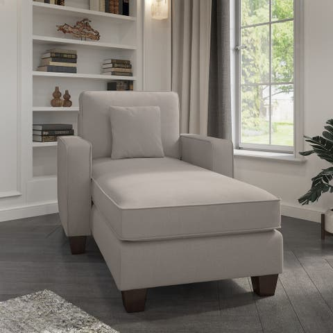Stockton Chaise Lounge with Arms by Bush Furniture