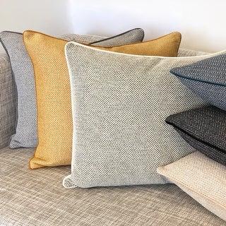 Rodeo Home Zena Modern Minimalist Rectangular Throw Pillow