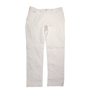 Nannette Lepore White Eyelet Skinny Jeans